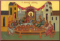 TQ2876 : St Bartholomew, (now St Nectarios), Battersea - Icon by John Salmon