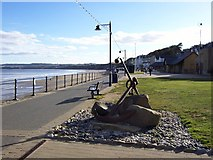 TA1280 : Anchor feature on the Promenade, Filey by Terry Robinson