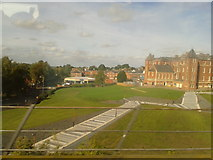 SO8455 : University of Worcester city campus seen from the train by Rob Purvis