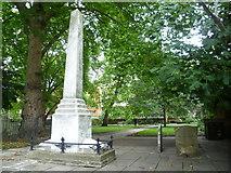 TQ3282 : Defoe and Blake memorials, Bunhill Fields by kim traynor