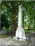 TQ3282 : Daniel Defoe Memorial, Bunhill Fields by kim traynor