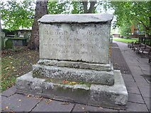 TQ3282 : Dame Mary Page grave, Bunhill Fields by kim traynor