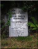 NN5207 : Glen Finglas Reservoir plaque by Ian Taylor
