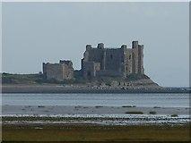 SD2363 : Piel Castle Keep from Scar End Point, Walney by Rob Farrow