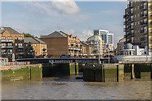 TQ3680 : Entrance to Limehouse Marina by Christine Matthews
