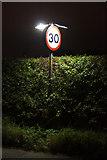 SJ3999 : Speed limit sign, Waddicar Lane, Melling by Mike Pennington