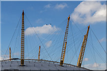 TQ3980 : Walkway Over the O2 Centre, Greenwich by Christine Matthews