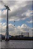 TQ3979 : Cable Car over The Thames, Greenwich by Christine Matthews