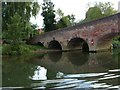SU7575 : Reflections of Sonning Bridge [Berkshire side] by Christine Johnstone