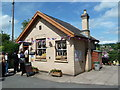 SO7679 : Arley Station - queuing for the NAAFI by Chris Allen