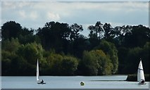 SU6570 : Sailing dinghies at buoy 12 by Christine Johnstone