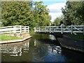 SU6369 : Sulhamstead swingbridge [no 21] half closed by Christine Johnstone