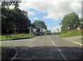 SJ2530 : B4580 junction with Back Racecourse Lane by Stuart Logan
