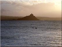 SW5129 : St Michael's Mount on a grey Cornish morning by John Lucas