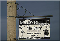 TM3674 : Marybelle sign  at the entrance to Old Hall by Adrian Cable
