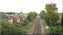 TR1458 : Railway tracks, Canterbury by Malc McDonald