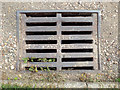 SP2865 : Gully grating, rear of Packmore Street, Warwick by Robin Stott