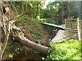 SJ2370 : Footbridge over the Afon Conwy by Maggie Cox