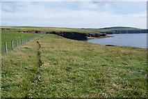 HY4147 : The coastal path below Backarass Farm by Bill Boaden