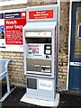 TM3863 : Ticket Machine at Saxmundham Railway Station by Adrian Cable