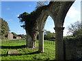 TF7027 : Appleton Farm viewed from the ruin by Richard Humphrey