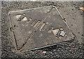 "J2868 : Arrol ""Selflock"" access cover, Seymour Hill, Derriaghy by Albert Bridge"