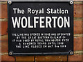 TF6628 : Information Sign, Wolferton Station, Norfolk by Christine Matthews
