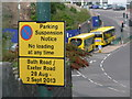 SZ0890 : Bournemouth: out-of-date sign on Exeter Road by Chris Downer