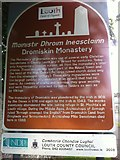O0598 : Dromiskin Monastery information sign by Darrin Antrobus