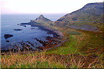 C9444 : Antrim Coast - Great Stookan, along east side of Portnaboe Bay by Joseph Mischyshyn