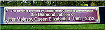 TM3669 : Plaque on Sibton Bench by Adrian Cable