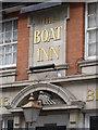SK5538 : The Boat Inn, Lenton, name panel by Alan Murray-Rust