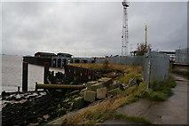 TA1228 : The riverside path at Alexandra Dock, Hull by Ian S