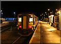 NN3825 : Glasgow bound train at Crianlarich by William Starkey