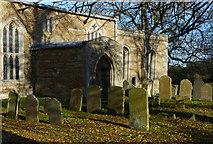 SK8707 : St Edmund churchyard in Egleton by Mat Fascione