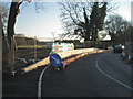 SP2763 : Fisher's Bridge, traffic barrier and temporary parapet by Robin Stott