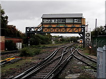 TR1458 : Signal Box at Canterbury West Station by Chris Heaton