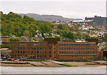 NS2577 : Navy Buildings, viewed from P&O's Adonia sailing out of Greenock by Terry Robinson
