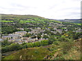 SD9905 : View southeast across Uppermill from Ladcastle Road by John Topping