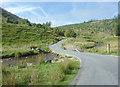SN8355 : The road to Tregaron in Cwm Irfon, Powys by Roger  Kidd