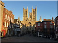 SK9771 : Classic view of Lincoln Cathedral and Castle Square by Richard Humphrey