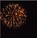 TQ7668 : One of the Chatham bonfire night fireworks by David Anstiss