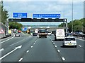 TQ2552 : M25, Exit at Reigate Hill (Junction 8) by David Dixon