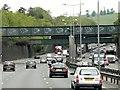 TQ2953 : Railway Bridge, M25 Merstham by David Dixon
