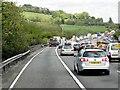 TQ3552 : Anti-clockwise M25 Approaching Roadworks at Godstone by David Dixon