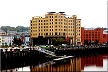 C4317 : Derry - City Hotel along West Bank of River Foyle by Joseph Mischyshyn