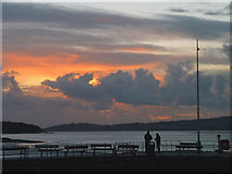 SD4578 : November sunset, Arnside Pier by Karl and Ali