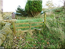 SE0023 : Stile on Hebden Royd FP115 at Plod Well by Humphrey Bolton