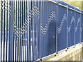 SW5140 : St Ives Station - wavy railings by Chris Allen