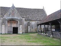 ST5038 : Abbey Barn and farmyard at Glastonbury by M J Richardson